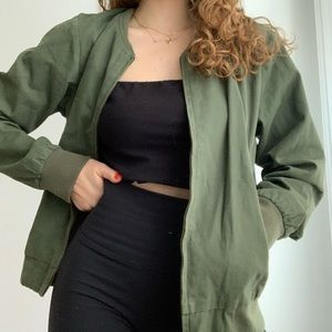 Brandy Melville Army Green Bomber Jacket